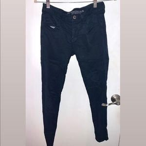 AMERICAN EAGLE: Navy Fabric Skinny Jeans
